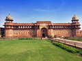 India agra red fort cityscape in a sunny day Stock Photo