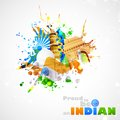 India background illustration of with monument and culture Royalty Free Stock Photography