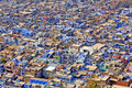 India, Chittorgarh: The blue city Stock Image