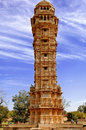 India, Chittorgarh: Vijay Stambh Stock Photo