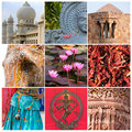 India collage. Royalty Free Stock Photo