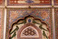 India decoration on the haveli wall frescoed havelis in shekhawati traditional ornately decorated residences rajasthan Royalty Free Stock Photos