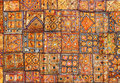 India fabric background patchwork Royalty Free Stock Photo