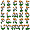 India flag font Royalty Free Stock Photo