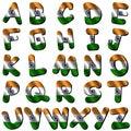 India flag font