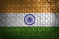 India flag,metal texture on background