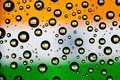 India flag reflection of in water droplets Royalty Free Stock Photo