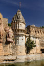 India fort chittor beautifoul in chittorgarh rajasthan sammidheshwar temple Royalty Free Stock Photography