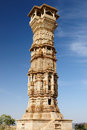 India fort chittor rajasthan beautifoul kirti stambha Royalty Free Stock Image