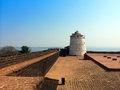 India goa aguada fort city landscape in a sunny day Royalty Free Stock Photography