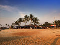 India goa beach landscape in a sunny day Royalty Free Stock Images