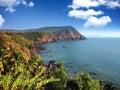 India goa sea landscape in a sunny day Royalty Free Stock Photo