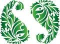 India green ornament Royalty Free Stock Photo
