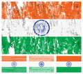 India grunge flag set Royalty Free Stock Photos