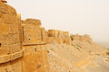 India jaisalmer fort beautiful in city on the deser in rajasthan Royalty Free Stock Photos