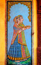 India, Jaisalmer: painting on the wall Royalty Free Stock Photography