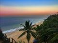 India kerala sunset sea tropical landscape Stock Photography
