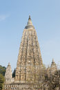 India mahabodhy temple buddhist in bodhgaya bihar Royalty Free Stock Photo