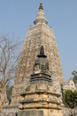 India mahabodhy temple buddhist in bodhgaya bihar Royalty Free Stock Image