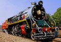 India: old steam train Royalty Free Stock Photo