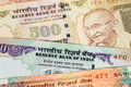 India rupee money banknote close up Royalty Free Stock Photography