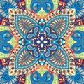 India seamless paisley kerchief pattern, decorative textile, wrapping, decor. Bohemian design Royalty Free Stock Photo
