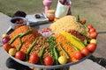 India street snacks Royalty Free Stock Photo