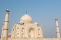 India taj machal white marble mahal in agra uttar pradesh Royalty Free Stock Images