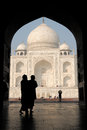 India taj machal white marble mahal in agra uttar pradesh Stock Photography