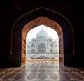 India. Taj Mahal indian palace in Agra Royalty Free Stock Photo
