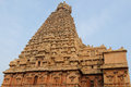 India tamil nadu temples brihadeeswarar hindu temple in thanjavur detail unesco Royalty Free Stock Photography