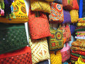 India-Traditional Bags Stock Images