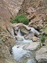 India, valley Ind, river Ind inflow by small falls Royalty Free Stock Photo