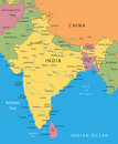 India vector map Royalty Free Stock Images