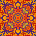 India vector paisley pattern, decorative ornament for textile, wrapping or bandana decor. Bohemian style kerchief design Royalty Free Stock Photo