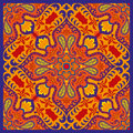 India vector paisley pattern, decorative ornament for textile, wrapping or bandana decor. Bohemian style kerchief design