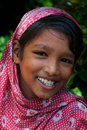 Indian adolescent girl an rural smiling in an village Royalty Free Stock Images