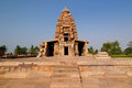 Indian ancient architeckture in the archaeological place in pattadakal one of temples complex of ruins town india near badami Stock Photography