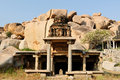 Indian architecture in Hampi Royalty Free Stock Photography