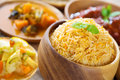 Indian biryani rice or briyani fresh cooked basmati delicious cuisine Royalty Free Stock Photo