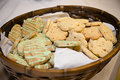 Indian biscuits basket full of Stock Image