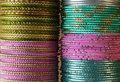 Indian bracelets two rows of traditional Royalty Free Stock Photo