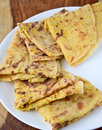 Indian bread puran poli is a traditional type of sweet flatbread made in india in the states of maharashtra andhra pradesh Royalty Free Stock Images