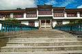 Indian buddhistic monastery Royalty Free Stock Image