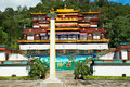 Indian buddhistic monastery traditional in india state sikkim Royalty Free Stock Images
