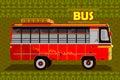 Indian Bus representing colorful India