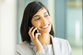 Indian business executive beautiful making a phone call Royalty Free Stock Photos