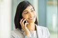 Indian business executive beautiful making a phone call Royalty Free Stock Photos