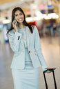 Indian business executive beautiful making a phone call at airport Stock Images
