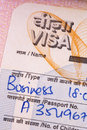Indian Business Visa Royalty Free Stock Photo